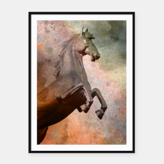 the golden horse Framed poster thumbnail image
