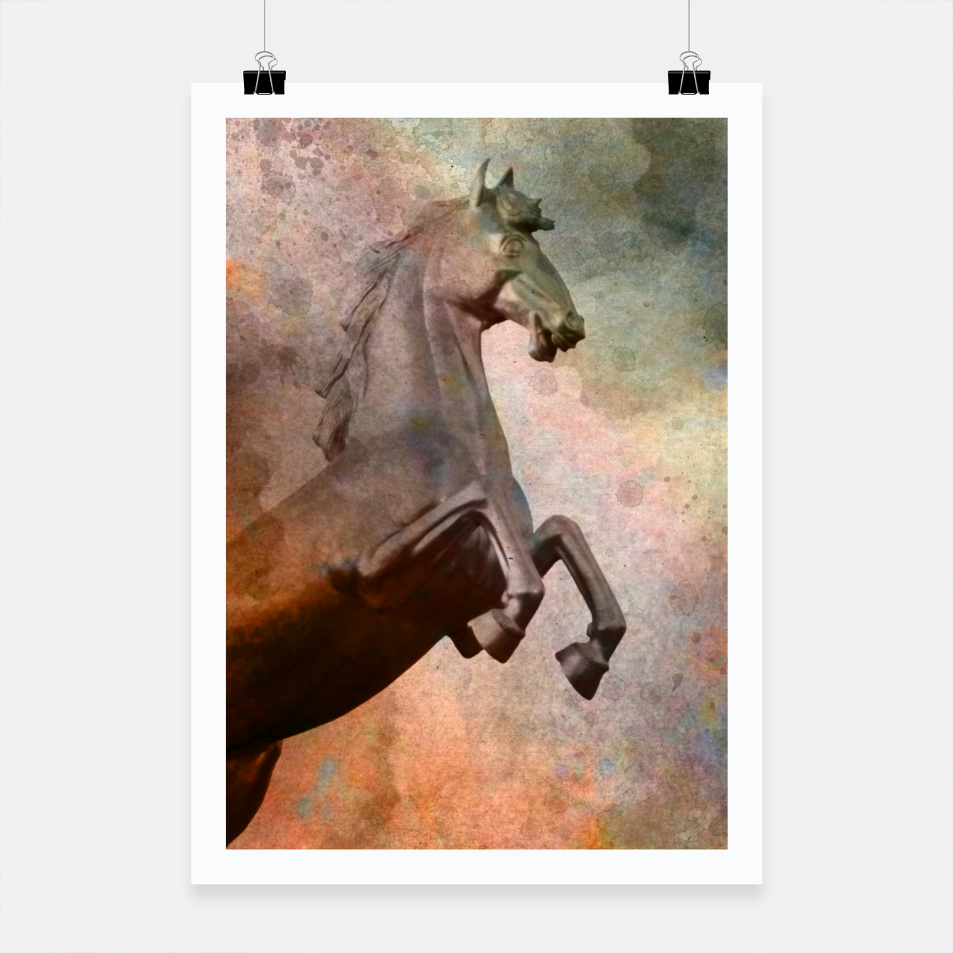 Image of the golden horse Poster - Live Heroes