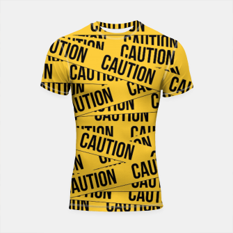 Thumbnail image of CAUTION Shortsleeve Rashguard, Live Heroes