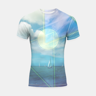 Thumbnail image of The Seas Be Ours Shortsleeve Rashguard, Live Heroes