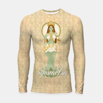 Thumbnail image of Bow Down to the Goddess Symmetra Longsleeve Rashguard , Live Heroes