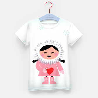 Thumbnail image of Kids T-Shirt with Eskimo Original drawing, Live Heroes