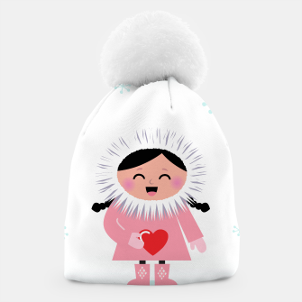 Thumbnail image of Wonderful artistic Beanie : with Love heart, Live Heroes
