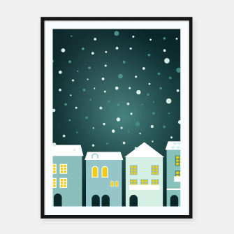 Miniature de image de Framed poster with Magical Night Town, Live Heroes