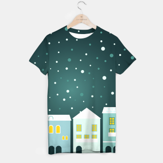 Thumbnail image of Amazing snowy vintage T-Shirt with Homes, Live Heroes