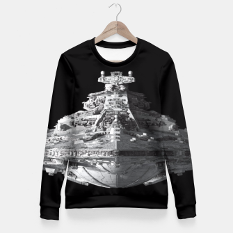 Miniature de image de Spaceships Star Wars Fitted Waist Sweater, Live Heroes