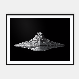 Thumbnail image of Spaceships Star Wars Framed poster, Live Heroes