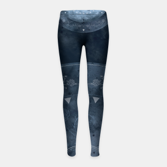 Thumbnail image of Grey Spring Girl's Leggings, Live Heroes