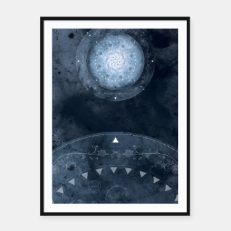 Thumbnail image of Grey Spring Framed poster, Live Heroes