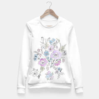 Thumbnail image of Watercolor flowers print Fitted Waist Sweater, Live Heroes