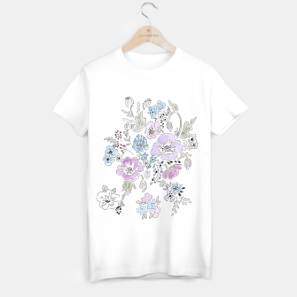 Thumbnail image of Watercolor flowers print T-shirt, Live Heroes