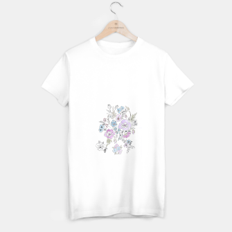 Miniaturka Watercolor flowers print T-shirt regular, Live Heroes
