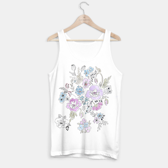 Thumbnail image of Watercolor flowers print Tank Top, Live Heroes