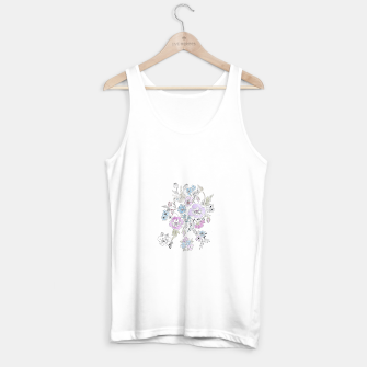 Thumbnail image of Watercolor flowers print Tank Top regular, Live Heroes