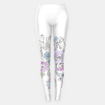 Miniature de image de Watercolor flowers print Leggings, Live Heroes