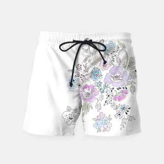 Thumbnail image of Watercolor flowers print Swim Shorts, Live Heroes