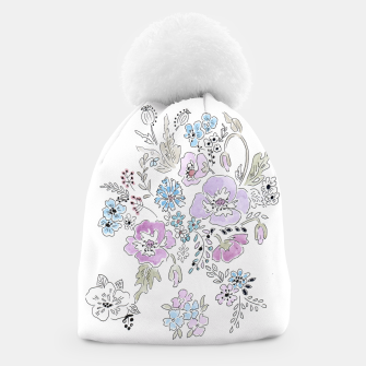 Thumbnail image of Watercolor flowers print Beanie, Live Heroes