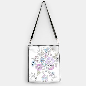 Miniature de image de Watercolor flowers print Handbag, Live Heroes
