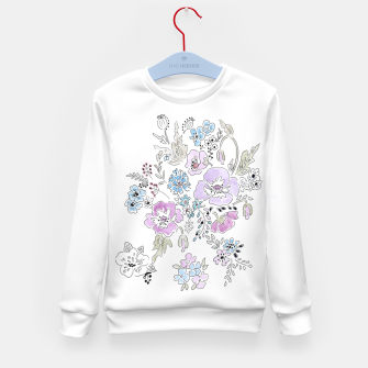 Thumbnail image of Watercolor flowers print Kid's Sweater, Live Heroes