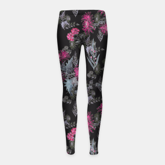 Thumbnail image of Watercolor floral print Girl's Leggings, Live Heroes