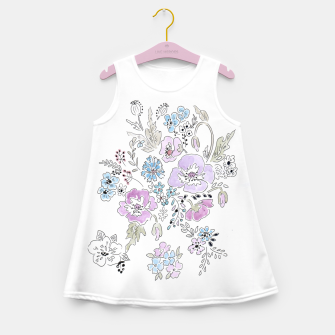Thumbnail image of Watercolor flowers print Girl's Summer Dress, Live Heroes