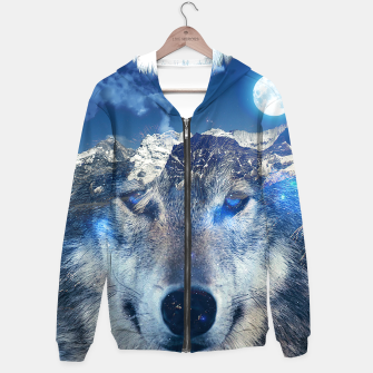 Thumbnail image of Mountain Wolf Hoodie, Live Heroes