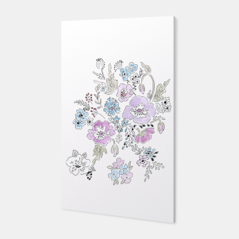 Thumbnail image of Watercolor flowers print Canvas, Live Heroes