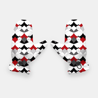 Miniature de image de Abstract seamless geometrical shapes pattern Gloves, Live Heroes