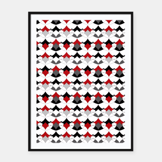 Miniature de image de Abstract seamless geometrical shapes pattern Framed poster, Live Heroes