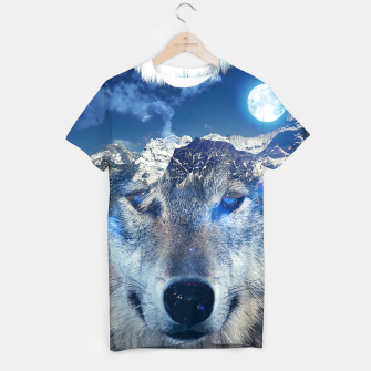 Thumbnail image of Mountain Wolf T-shirt, Live Heroes