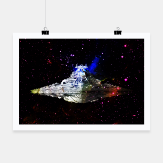Thumbnail image of Star Wars Spaceships Poster, Live Heroes