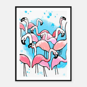 Thumbnail image of Flamingo City Framed poster, Live Heroes