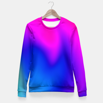 Miniature de image de Blue Pink Blur Fitted Waist Sweater, Live Heroes