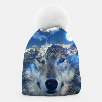 Thumbnail image of Mountain Wolf Beanie, Live Heroes