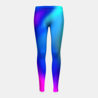 Thumbnail image of Blue Pink Blur Girl's Leggings, Live Heroes