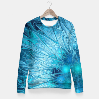 Miniature de image de Ice crystal frozen Abstracts Fitted Waist Sweater, Live Heroes