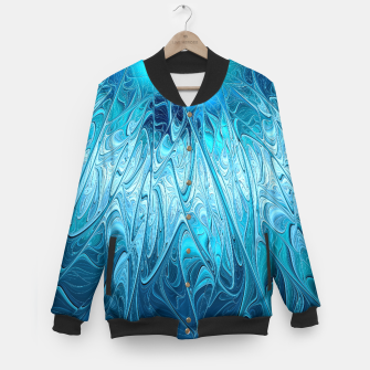 Thumbnail image of Ice crystal frozen Abstracts Baseball Jacket, Live Heroes