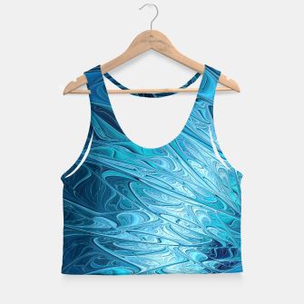 Miniature de image de Ice crystal frozen Abstracts Crop Top, Live Heroes