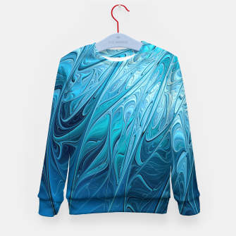 Thumbnail image of Ice crystal frozen Abstracts Kid's Sweater, Live Heroes
