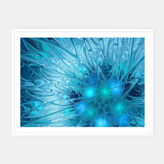 Thumbnail image of Ice crystal frozen Abstracts Framed poster, Live Heroes