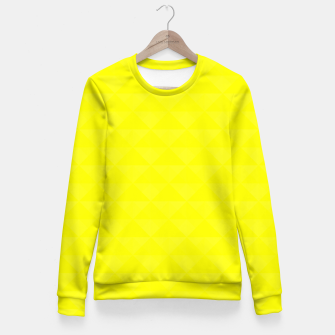 Miniature de image de Bright juicy lemon color print Fitted Waist Sweater, Live Heroes