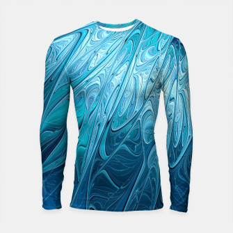 Thumbnail image of Ice crystal frozen Abstracts Longsleeve Rashguard , Live Heroes