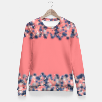 Miniature de image de Coral color and blurred dots Fitted Waist Sweater, Live Heroes