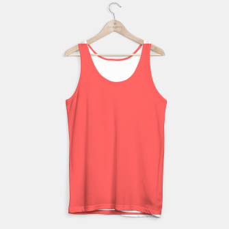 Thumbnail image of Bright coral color print Tank Top, Live Heroes