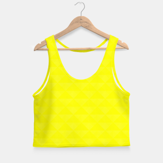Miniature de image de Bright juicy lemon color print Crop Top, Live Heroes