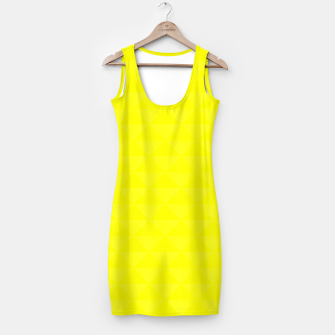 Miniature de image de Bright juicy lemon color print Simple Dress, Live Heroes