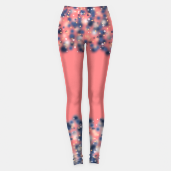 Miniature de image de Coral color and blurred dots Leggings, Live Heroes
