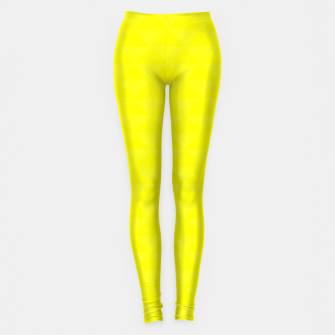 Miniature de image de Bright juicy lemon color print Leggings, Live Heroes
