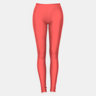 Miniature de image de Bright coral color print Leggings, Live Heroes