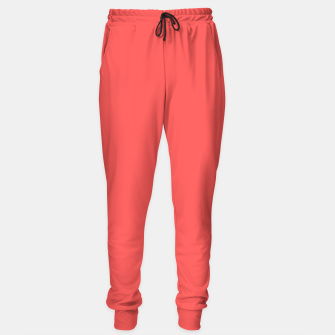 Thumbnail image of Bright coral color print Sweatpants, Live Heroes